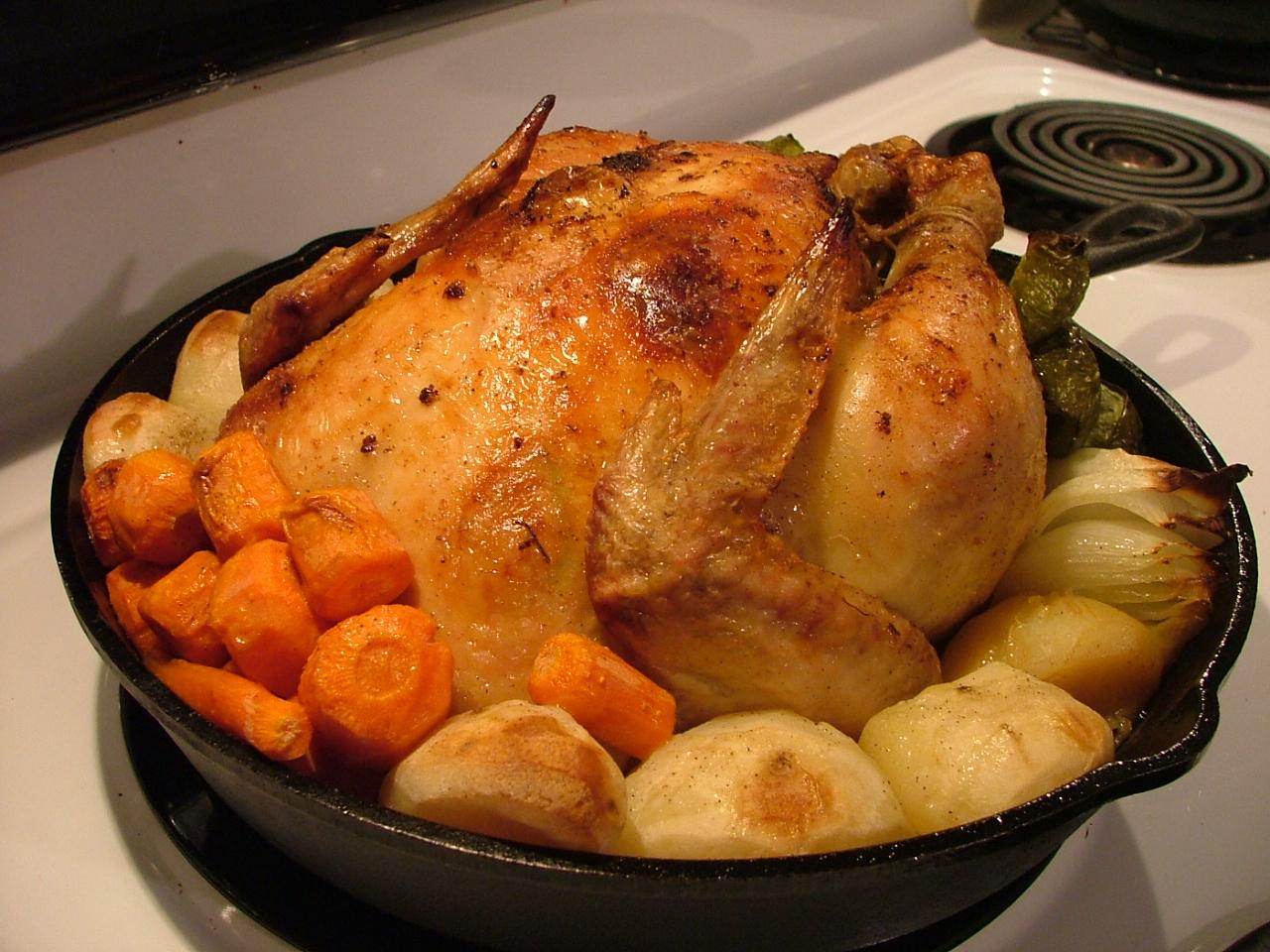 鳥の丸焼き レシピ