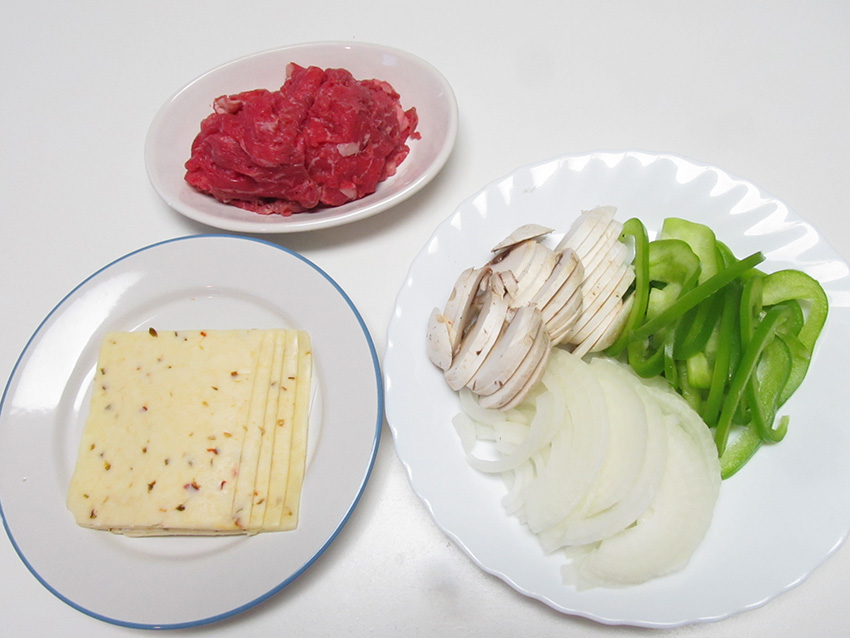 フィリーチーズステーキサ レシピンドイッチ 作り方