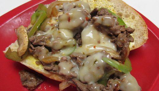 フィリー・チーズステーキ・サンドイッチの作り方!Philly Cheese Steak Sandwich アツアツをがぶり!